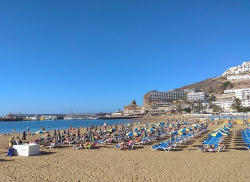 Gran canaria spiaggia meno ventosa
