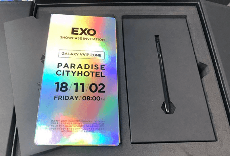 It also includes a VVIP invitation pass for EXO's comeback showcase