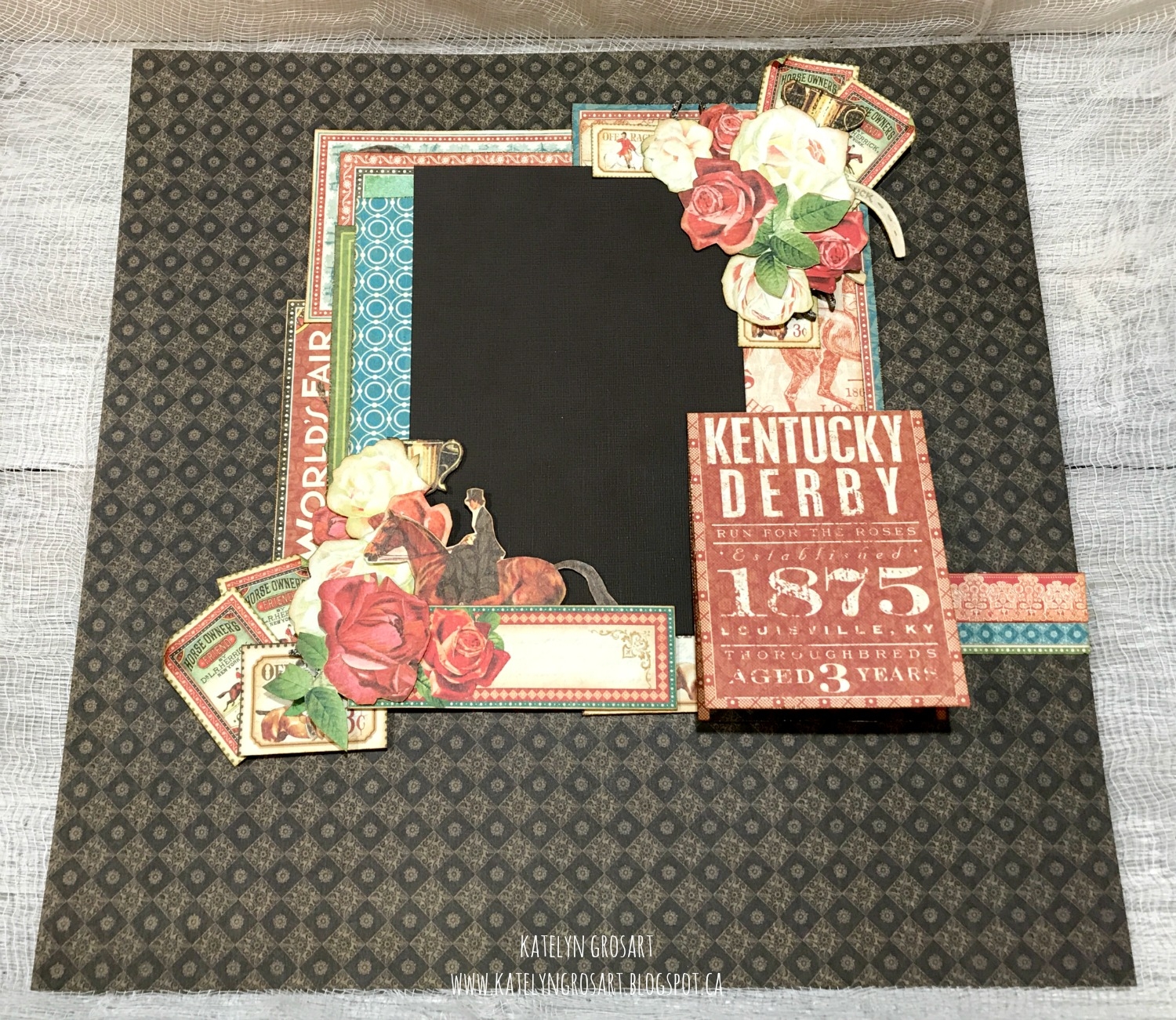 A Creative Journey Off To The Races Class At Scrap Addicts