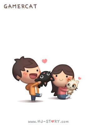 Imagenes bonitas de enamorados con gatos