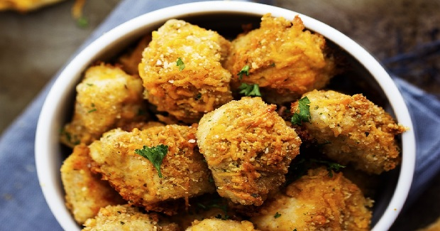 Garlic Parmesan Cheddar Chicken Bites Recipe