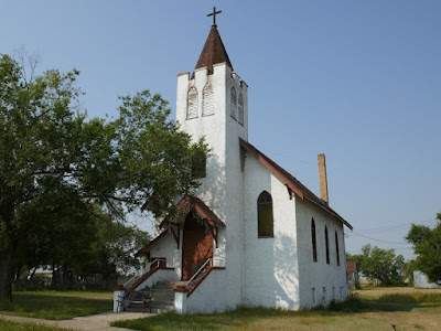 Empress, historical, Alberta, church