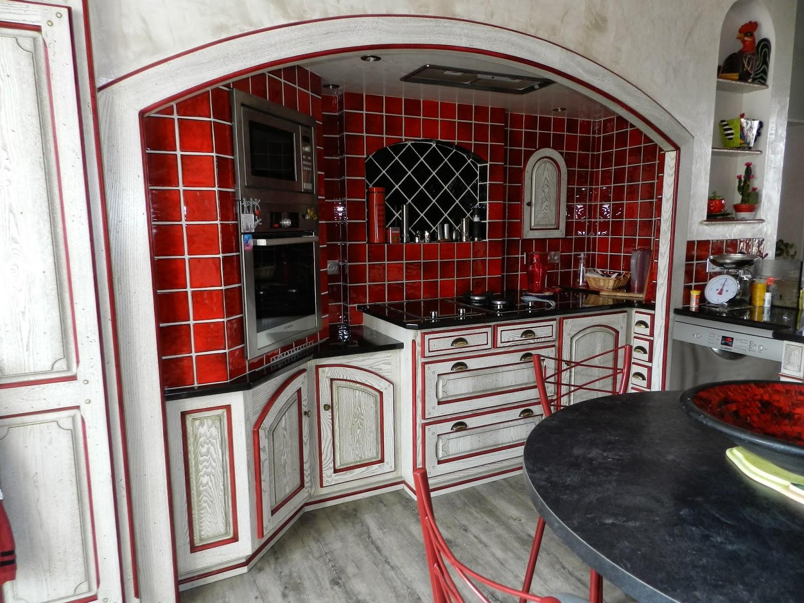 attractif meuble de cuisine en bois rouge cuisine enfant en bois rouge dco zq14
