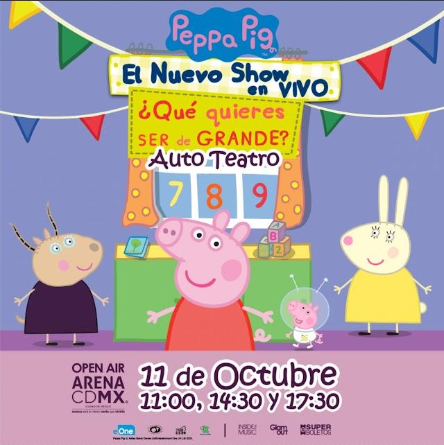 El Show de Peppa The Pig en autoteatro el 11 de Octubre