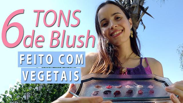 Maquiagem natural com Beterraba, Açaí e Amora | Blush Vegano e Fácil de fazer