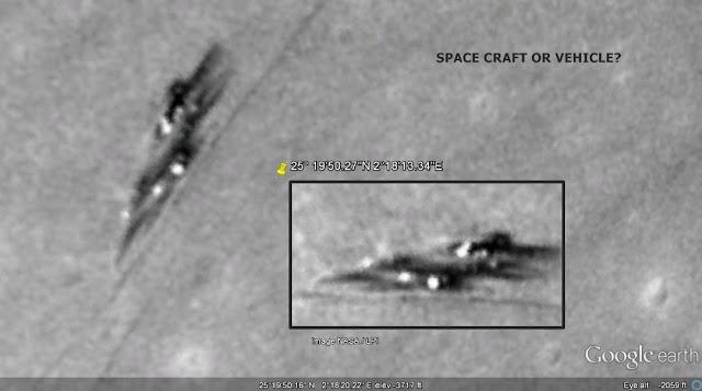 Resultado de imagen para Una 'nave espacial' detectada en la Luna a través de Google Moon