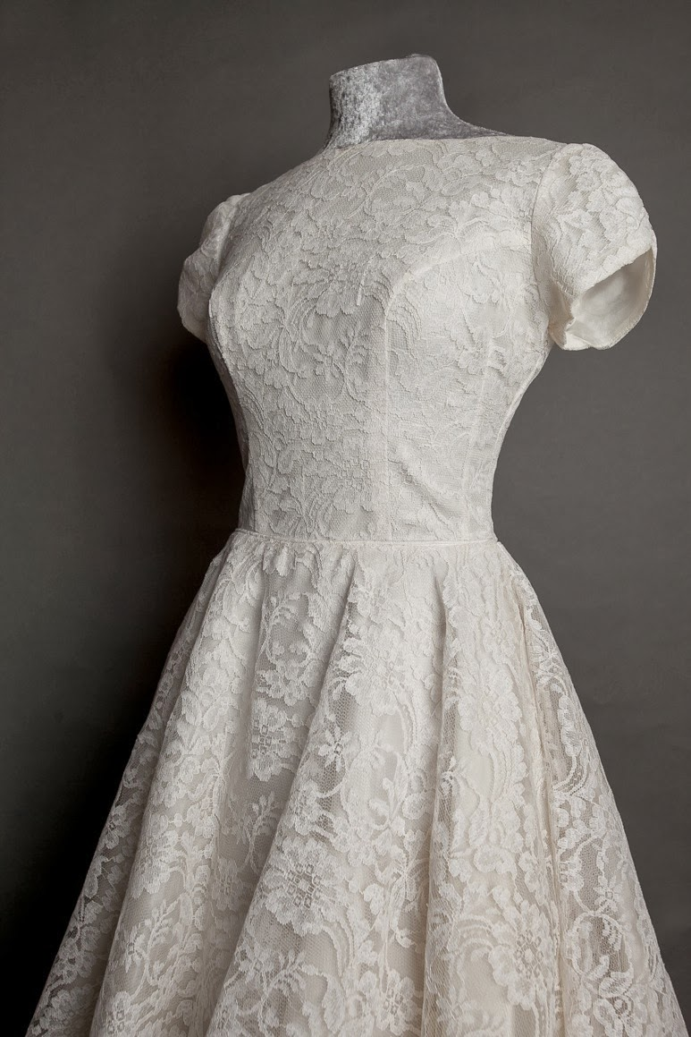 Gorgeous vintage 1950s lace wedding dresses new on my for Vintage lace dress wedding