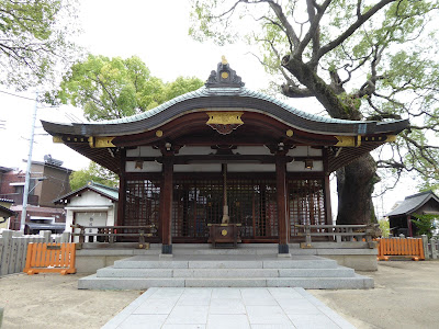 【門真市稗島】堤根神社 拝殿