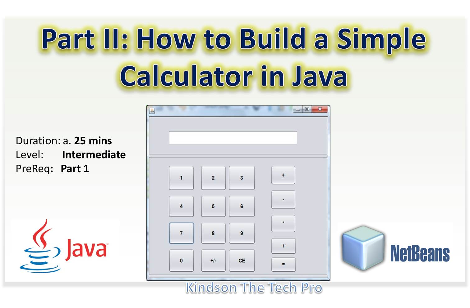The tech pro part 2 how to build a simple for Building calculations