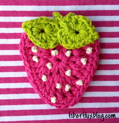Fiber Flux Free Crochet Patternmmer Strawberry Applique