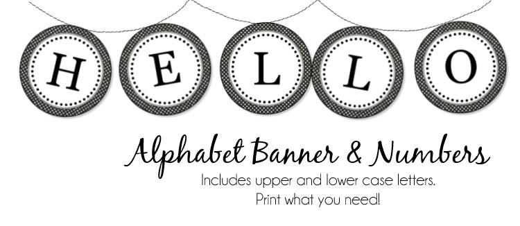 Peonies and Poppyseeds: Free Alphabet Banner