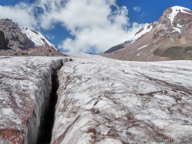 Crevasse on the glacier