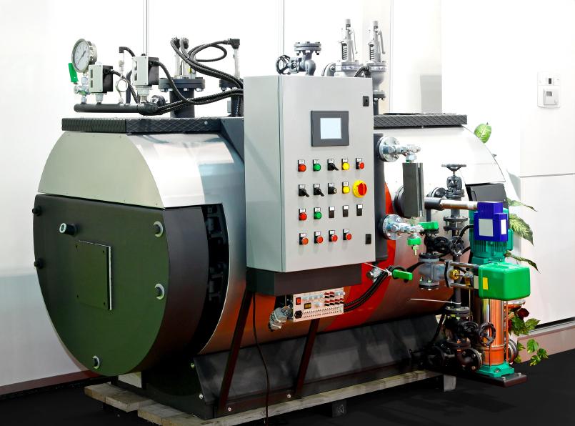 Control de una caldera de vapor planos de for Como funcionan las calderas de gas