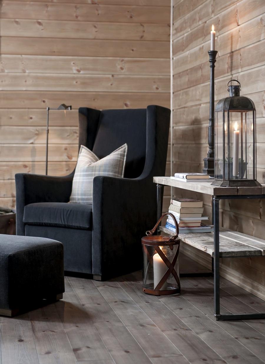 wystrój wnętrz, wnętrza, urządzanie mieszkania, dom, home decor, dekoracje, aranżacje, styl skandynawski, scandinavian style, drewniany domek, drewno, fotel