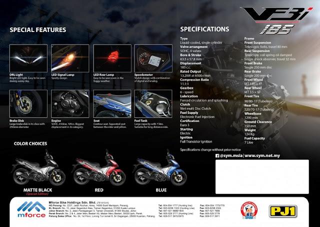 Spesifikasi SYM VF3i