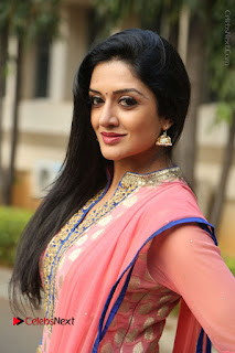 Actress Vimala Raman Stills in Beautiful Pink Salwar Kameez at (ONV) Om Namo Venkatesaya Press Meet  0098.JPG