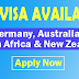 Job Visa for Europe | Germany, Australia, South Africa & New Zealand | Apply Now
