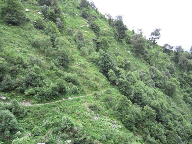 way to himalyan waterfall