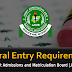 JAMB General Admission Entry Requirements - [UTME & DE]