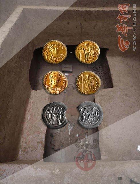Χρυσά νομίσματα της Ανατολικής Ρωμαϊκής αυτοκρατορίας «Βυζάντινά» βρέθηκαν σε έναν Κινέζικο τάφο ηλικίας 1.500 ετών.