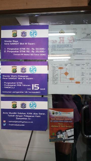 cara bayar pajak motor, standar pelayanan samsat blok m square