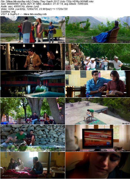 Chalay Thay Saath 2017 Urdu 720p HDRip 900MB