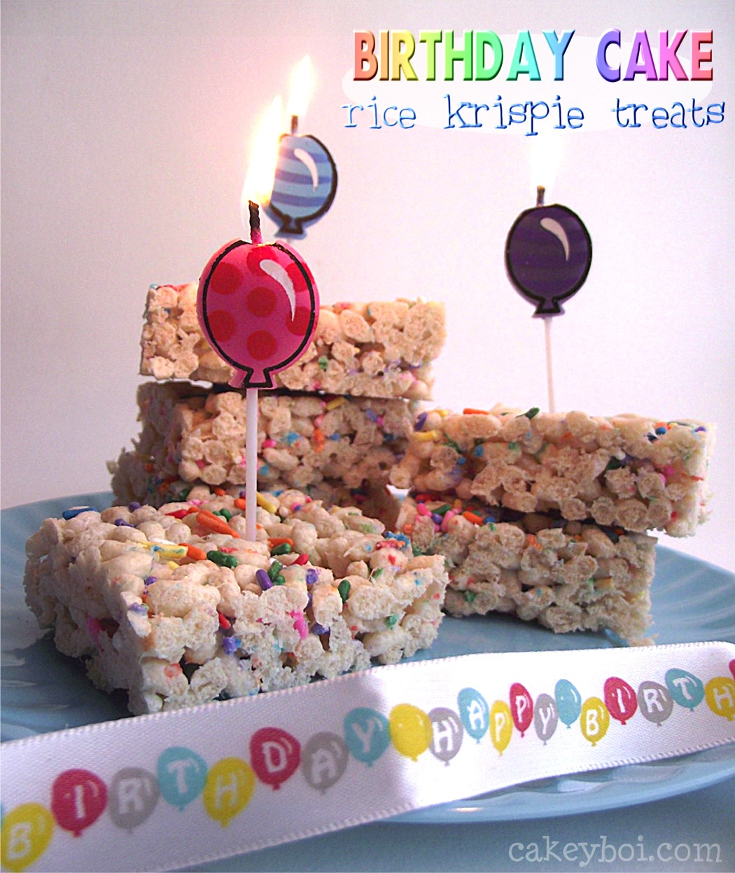 Cake Batter Krispie Treats