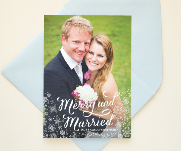 just married holiday cards