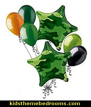 Camo Stars Balloon Bouquet Army