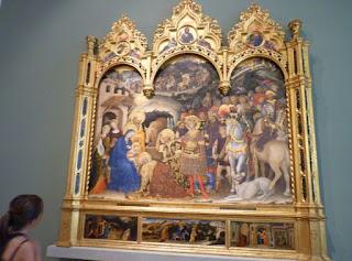 Adoración de los Reyes Magos (1423) de Gentile da Fabriano.