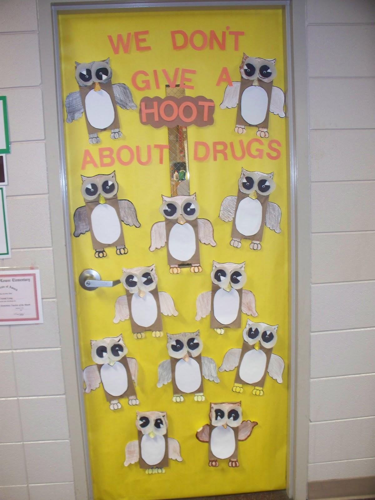 My Classroom Door For Drug Free Week