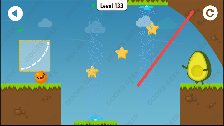 Where's My Avocado? Level 133 Solution, Cheats, Walkthrough, 3 Stars for Android, iPhone, iPad and iPod