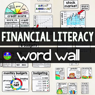 Scaffolded Math and Science - Financial Literacy Word Wall