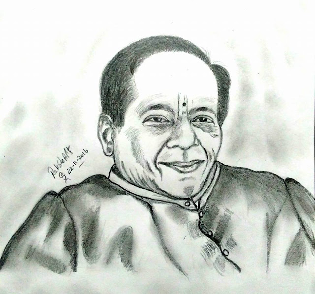 PENCIL DRAWING -Mangalampalli Balamurali Krishna
