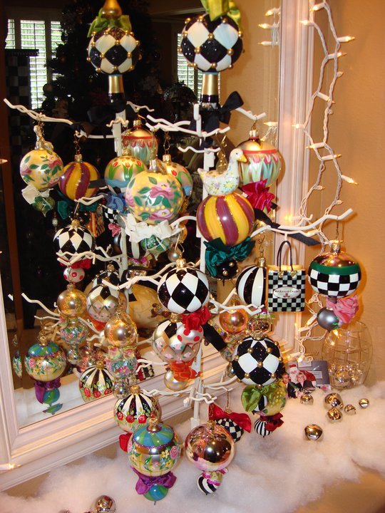 Breezy Trees MacKenzieChilds Christmas Ornaments These