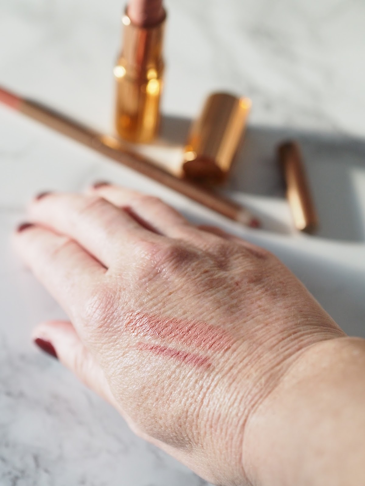 Charlotte Tilbury review KIM K.W Hot Lips collection Priceless Life of Mine Over 40 lifestyle blog