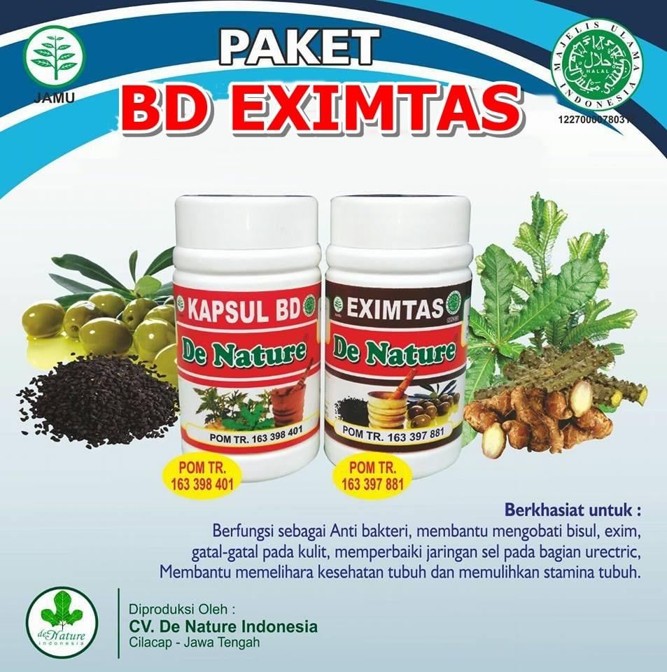Paket Obat Impetigo de Nature Kapsul Bersih darah dan Eximtas