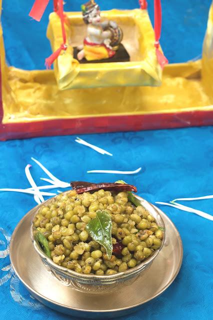 PachaiPayiru(Green Moong dhal) Sundal
