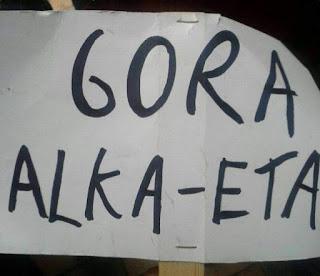 Alka-ETA, la pancarta dela discordia