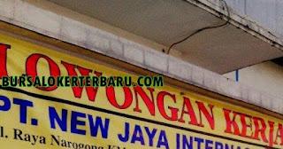 Lowongan Kerja Terbaru di PT New Jaya International