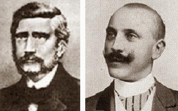 Los compositores de ajedrez Josef Kling y Henri Rinck