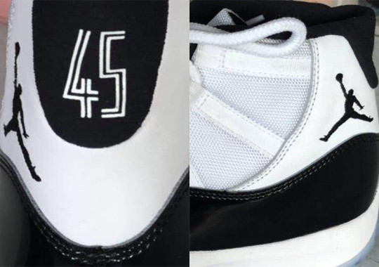 043793687e9e52 After 2016 s Air Jordan 11 Space Jam release delighted some sneakerheads  and infuriated others by replacing the heel s classic 23 logo with a 45