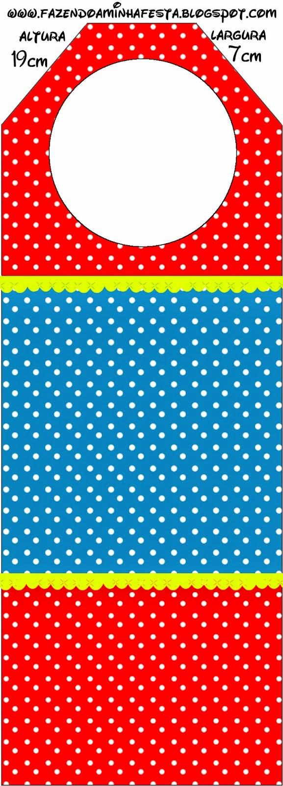 Para marcapáginas de Rojo, Amarillo y Azul.