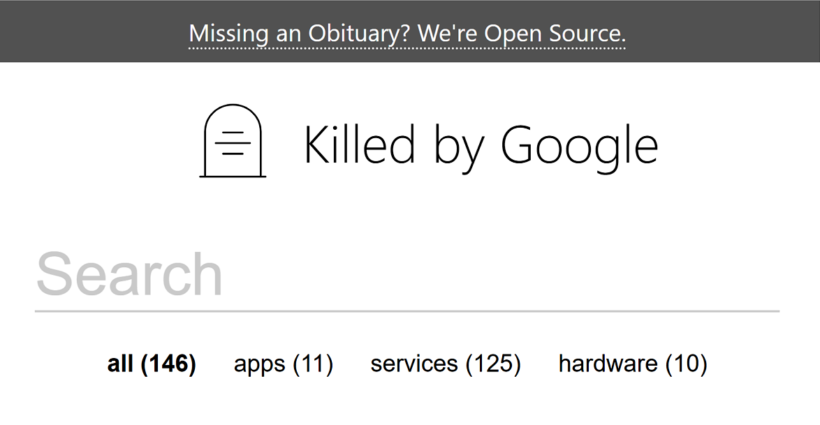 Killed by Google 整理谷歌旗下已關閉的服務
