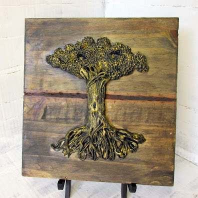 Bodhi Tree of Gold by  Eileen A Art 2014