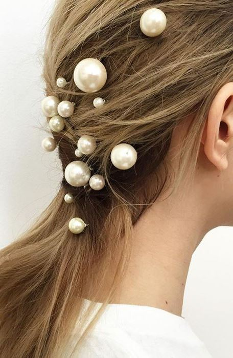Pearls: the fashion trend that's taking over hair and beauty
