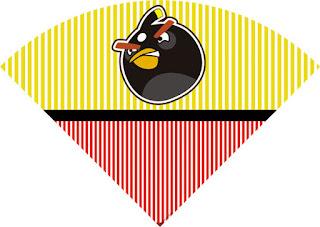 Conos= Cucurucho para Imprimir Gratis de Angry Birds.