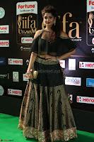 Ritika Singh in a Ethnic Deep Neck Dark Green Choli Ghagra at IIFA Utsavam Awards March 2017 ~ 048.JPG