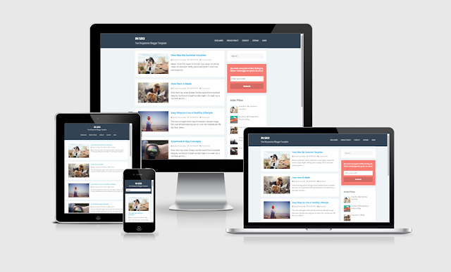 In SEO Responsive and SEO Friendly Blogger Template
