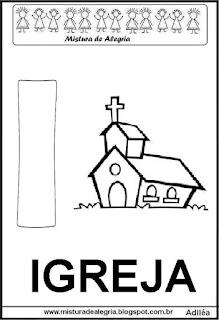 Alfabeto cartaz letra I